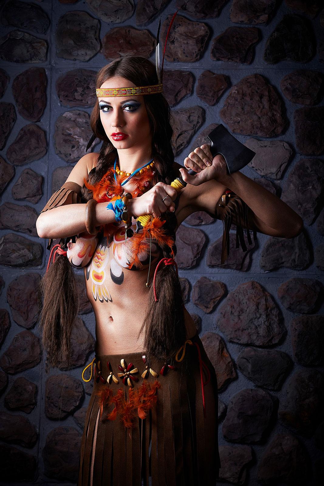 Фото девушка в образе индианки 11 фотография